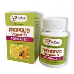 Dr. Bee Таблетки Прополис + Ехинацея + Витамин С