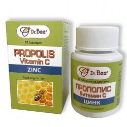 Dr. Bee Таблетки за смучене с Прополис, Витамин С и Цинк